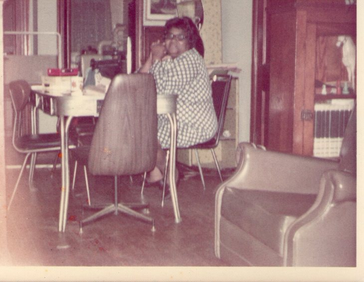 Fannie at Dinning Room Table